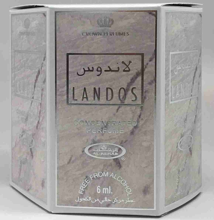 Landos - 6ml (.2oz) Roll-on Perfume Oil by Al-Rehab (Box of 6)