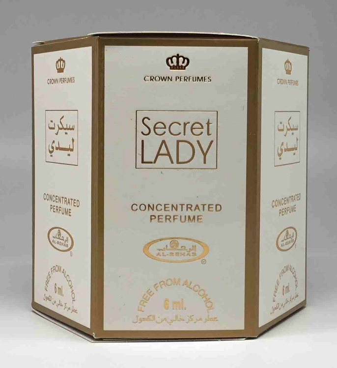 Secret Lady - 6ml (.2oz) Roll-on Perfume Oil by Al-Rehab (Box of 6)