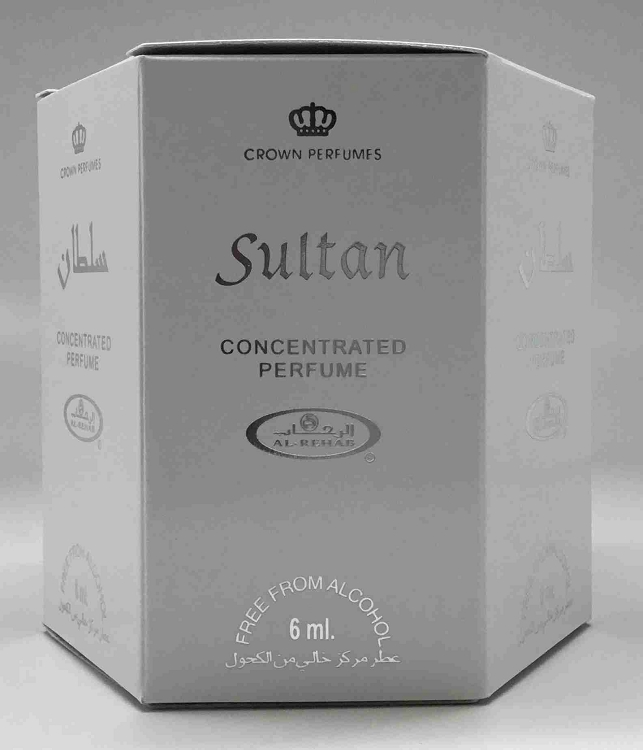 Sultan - 6ml (.2oz) Roll-on Perfume Oil by Al-Rehab (Box of 6)
