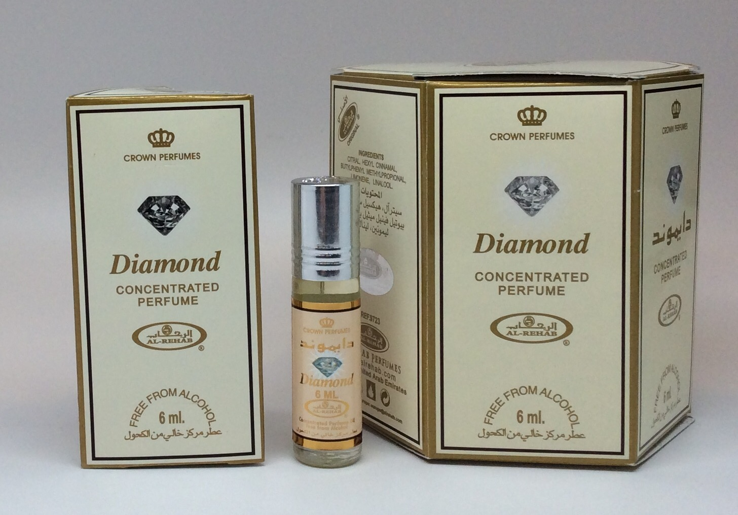 Diamond - 6ml (.2oz) Roll-on Perfume Oil by Al-Rehab (Box of 6)