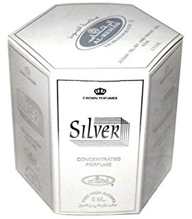 Silver - 6ml (.2oz) Roll-on Perfume Oil by Al-Rehab (Box of 6)