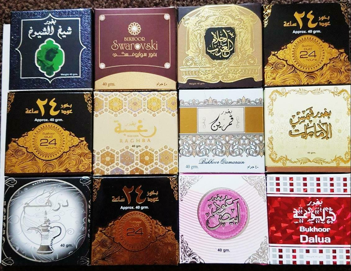 Assorted Bukhoor Incense (40gm) by Ard Al Zaafaran - Set of 15