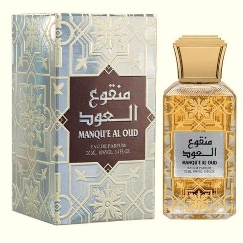 Manqu'e Al Oud - Eau De Parfum Spray (100 ml - 3.4Fl oz) by Lattafa (Al-Raheeb)
