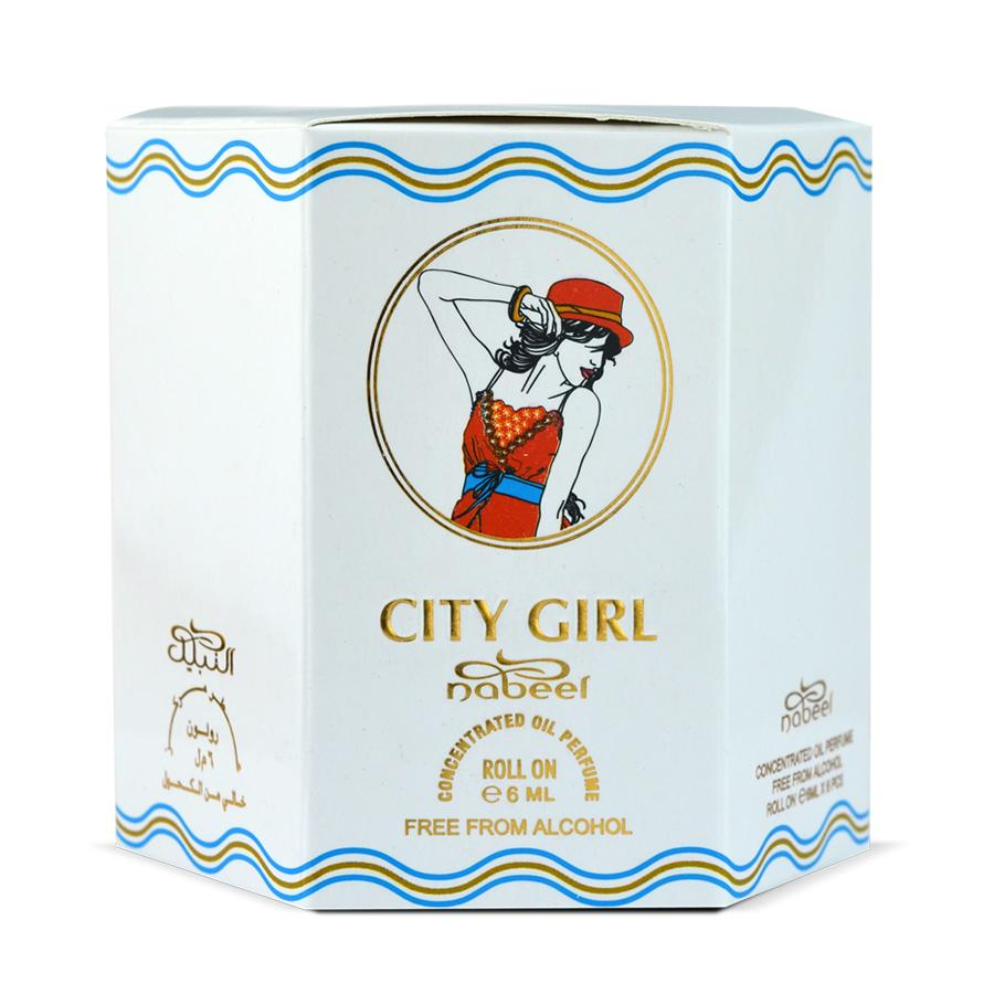 City Girl - Box 6 x 6ml Roll-on Perfume Oil by Nabeel