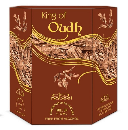 King of Oudh  - Box 6 x 6ml Roll-on Perfume Oil by Nabeel