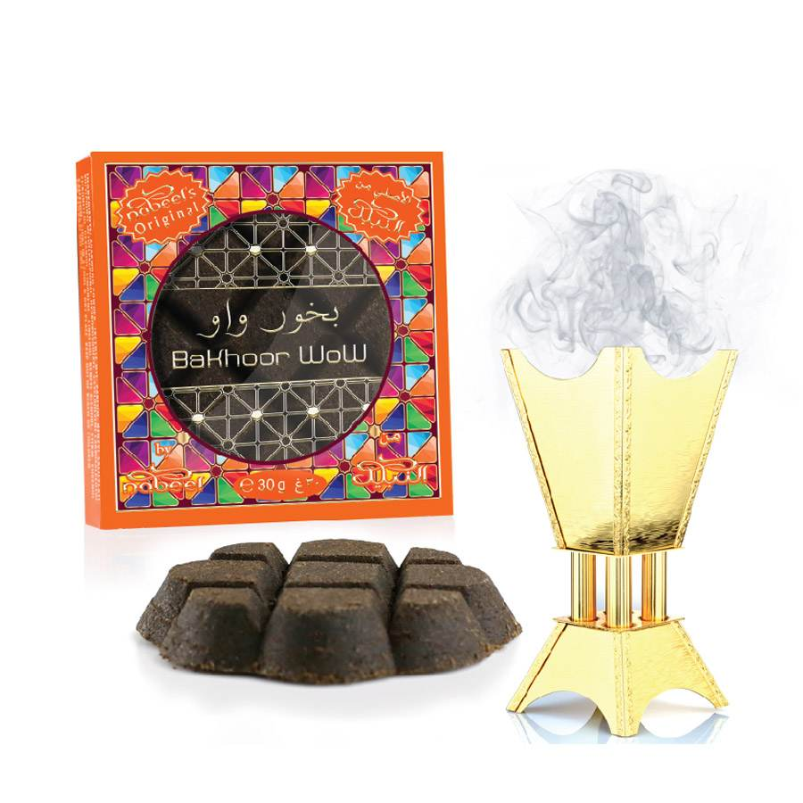 Bakhoor Wow Incense (Box of 12 x 30gm) by Nabeel
