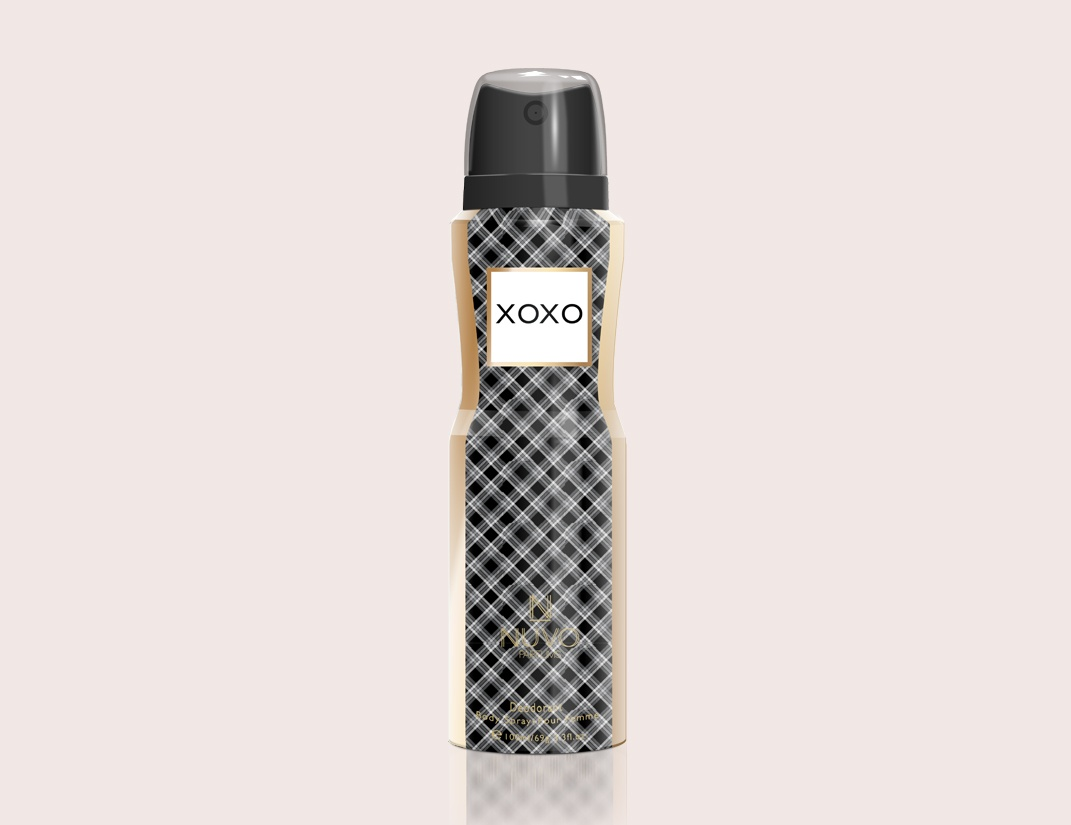 XOXO by NUVO PARFUMS - 100ml  Deodorant Body Spray