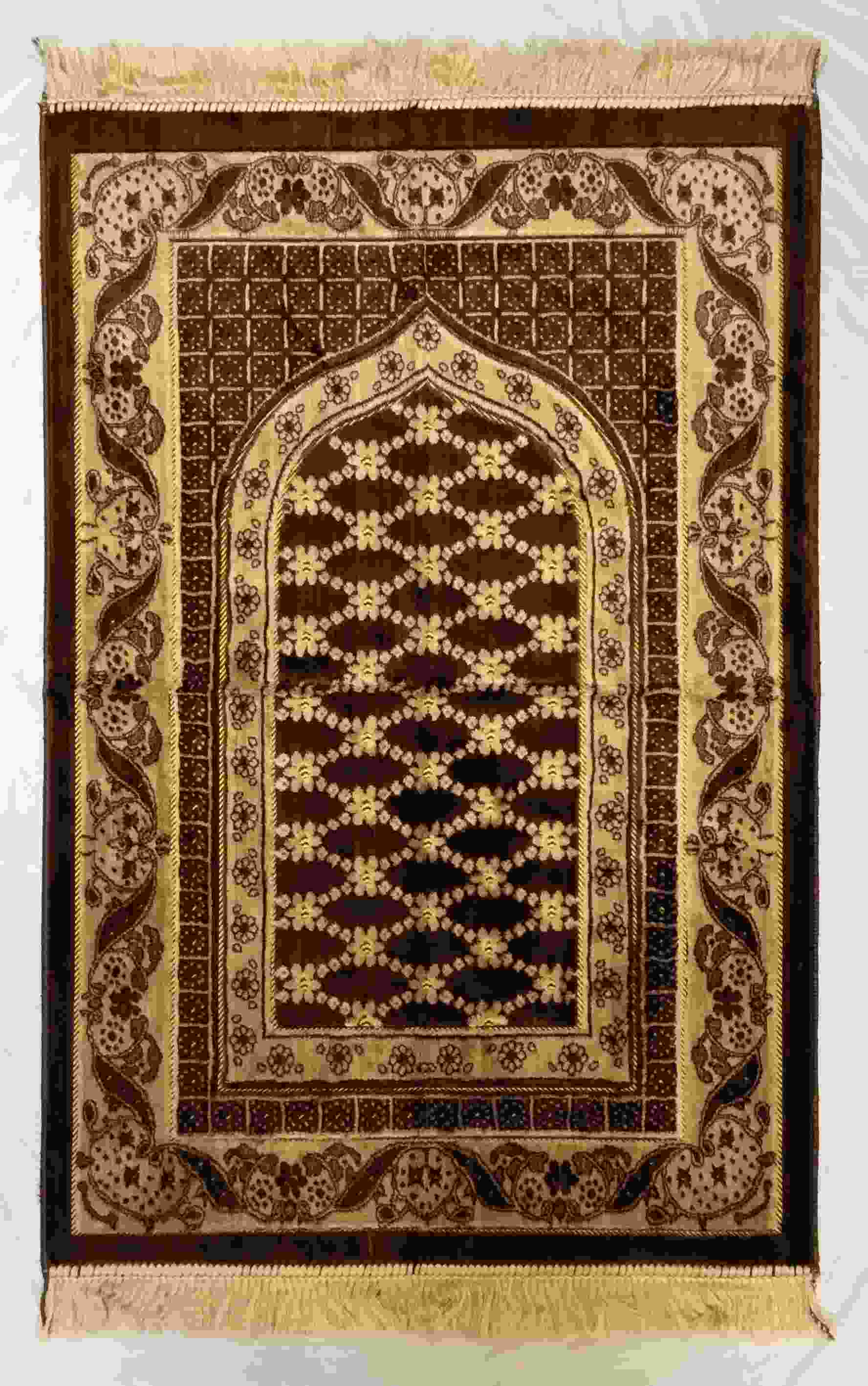 Safi Prayer Rugs - Design SA-D1 Brown - Design Spiegel - Design Plush