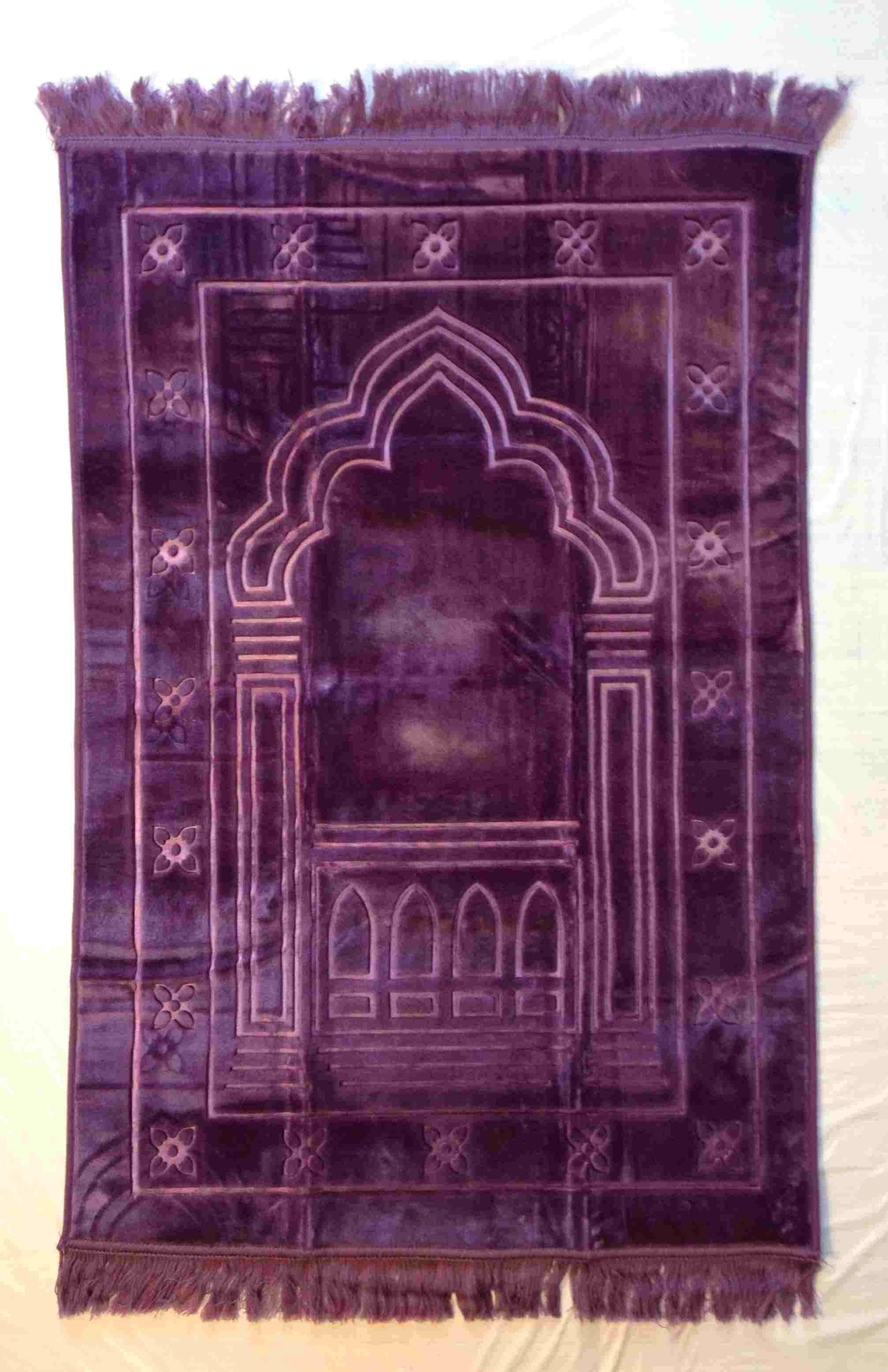 Luxurious Muslim Prayer Rug/Mat (Sajjada/Janamaz) by Safi- PURPLE