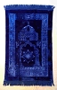 Luxurious Muslim Prayer Rug/Mat (Sajjada/Janamaz) by Safi- BLUE