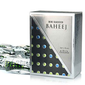 Mini Bakhoor Baheej Incense by Nabeel 108gm (Box of 36 x 3gm)