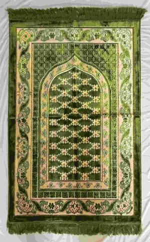 Safi Prayer Rugs - Design SA-D3 Green - Design Spiegel - Design Plush