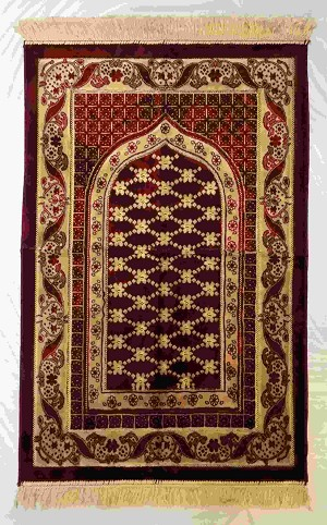Safi Prayer Rugs - Design  SA-D1 Red - Design Spiegel - Design Plush